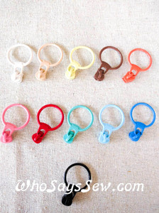 4x Size 3 Chunky Plastic Moulded ZIPPER PULLS ONLY in 11 Colours. Non-Lock