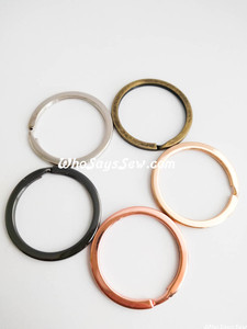 "3.5cm (1.4"") Round Flat Split Rings in 5 Finishes. Great Quality."
