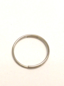 20x 1.5cm Round Split Rings in Silver. Thin Wire.