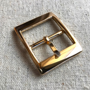 "2x REAL GOLD 2.5cm/1"" Buckles. High Quality."