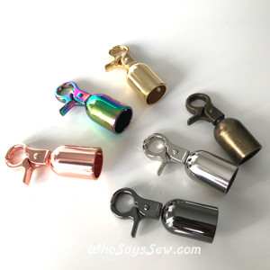 "1.4cm(1/2"") Cord/Tassel Caps w Top Hook. Silver, Rose Gold, Gold, Gunmetal, Antique Brass. Nickel Free"