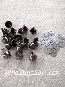 *BULK 100 pcs* Large Bucket Bag Feet in Shiny Nickel, Gunmetal, Light Gold or Antique Brass. 15mm. Come with Washers