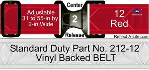 Belt Red Standard Duty 2-in Center Release Buckle