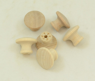 """1.25"""" Wooden Drawer Pull, sold in packages of 10."""