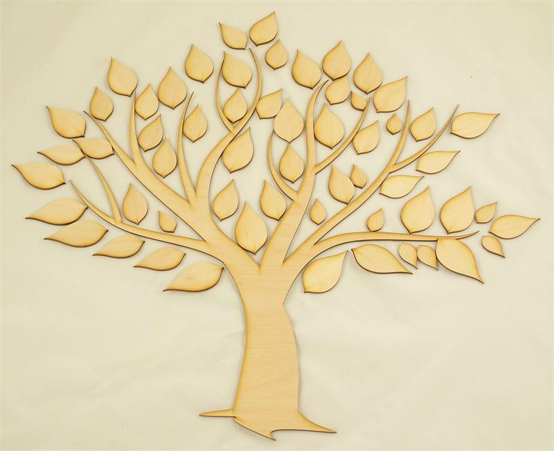 Family Tree Wood Cutout Wooden Tree Cut Out