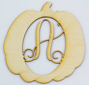 Pumpkin Framed Monogram in the Vine Font