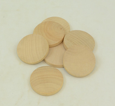 "1 Inch Hardwood Disc, 1/8"" thick.  Sold in packages of 10."