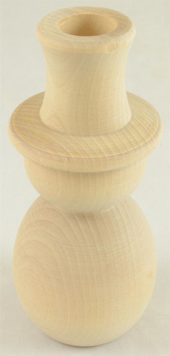 Wooden Snowman Candlestik 5-3/4 Tall