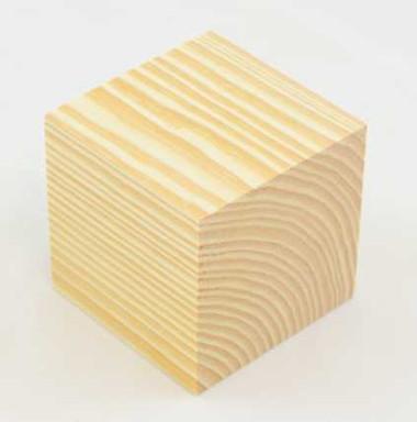2.5 Inch Pine Wood Block