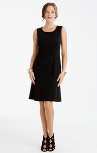 Carmen Lightweight Ponte Flip Dress Black