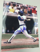 GARY MATTHEWS - Chicago Cubs - AUTOGRAPHED 8x10 (Swinging)