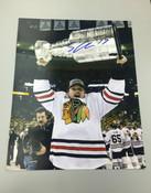SHELDON BROOKBANK - Chicago Blackhawks - Autographed 8x10 (Holding Stanley Cup)