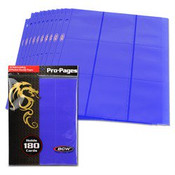 BCW Gaming Side Loading 18 Pocket Pro Pages - Blue