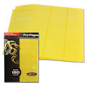 BCW Gaming Side Loading 18 Pocket Pro Pages - Yellow
