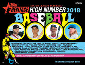 2018 Topps Heritage High Number Hobby 12 Box Case