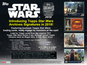 2018 Topps Star Wars Archives Signature Series Hobby Box