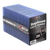 BCW 3x4 Topload Card Holder 100ct - Standard