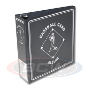 "BCW 3"" Album - Black Baseball Card Album - 12 Album Case"