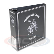"BCW 3"" Album - Black Football Card Album - 12 Album Case"