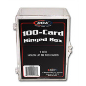 BCW Hinged Trading Card Box - 100 Count 100 Pack Case