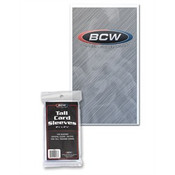 BCW Tall Trading Card Sleeves 100/100ct. Case