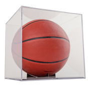 BallQube Basketball Holder -Grandstand with UV Case of 4