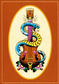 Angelique Houtkamp Greeting Card - Guitar & Serpent