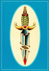 Angelique Houtkamp Greeting Card -  Dagger