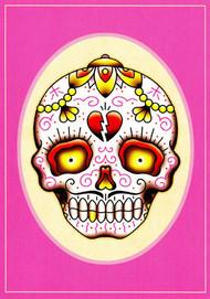 Angelique Houtkamp Greeting Card - Sugar Skull