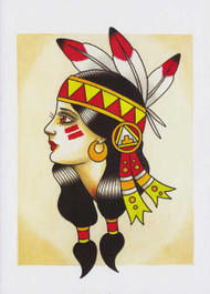 Ben Stone Greeting Card - Native American