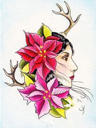 Jen Lee Greeting Card - Winter