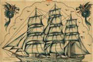 Sailor Jerry Sailing Ship Flash Sheet