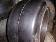 (2-Tires) 28X16X22 solid forklift tire 28-16-22 281622 (USA MADE)