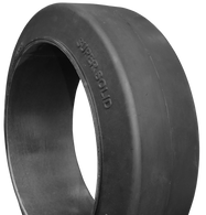 (2-Tires) 12x4-1/2x8 tires Super Solid forklift smooth tire USA Made 124128