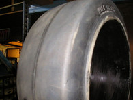 22X8X16 tires Wide Track solid forklift press-on tire black smooth 22816