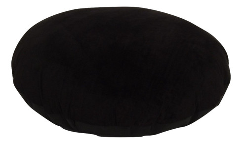 black velour large round floor cushions zip off cover insert pillows and cushions. Black Bedroom Furniture Sets. Home Design Ideas