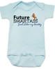 Future Smartass Baby Onesie, Smart-ass Dad, Smart Ass Mom, Funny parents, snarky baby onsie, blue