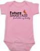Future Smartass Baby Onesie, Smart-ass Dad, Smart Ass Mom, Funny parents, snarky baby onsie, pink