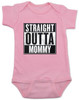 straight outta mommy baby onesie, nwa baby onsie, classic hip hop music, Straight Outta Compton, gangster rap, pink