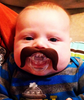 Mustache Pacifier, Mustachifier, The Cowboy, Handlebar mustache, funny baby pacifier, funny mustache pacifier, baby shower gift add-on, best baby gift, funny boy binky, mustache binkie, fake mustache on baby, badass baby with mustache pacifier