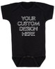Design your own custom baby onesie, create your own infant bodysuit, Personalized baby onsie, One of a kind baby present, customized baby gift, black