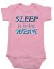 Sleep is for the weak baby onesie, sleep deprived new mom gift, funny new baby gift, Sleep is for the weak, new baby no sleep, baby won't sleep infant bodysuit, pink