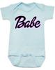 Babe baby onesie, little barbie girl baby onesie, Future babe, blue