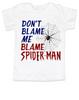 Don't blame me toddler shirt, Blame Spiderman toddler shirt, funny spiderman toddler t-shirt, I didn't do it kid shirt, cool spiderman kid tee, troublemaker toddler shirt, funny trouble maker toddler, Don't blame me blame spiderman