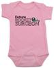 Future Rocket Surgeon baby onesie, future personalized baby onesie, rocket surgeon, custom funny baby gift, it's not rocket surgery baby, pink