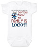 My family is crazy baby onesie, My family is loco, who you tryin to mess with ese, Loco Family baby onesie, crazy family baby onsie, funny holiday baby onesie, Loco reindeer, funny christmas baby, my family is nuts, cypress hill baby onesie