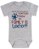 My family is crazy baby onesie, My family is loco, who you tryin to mess with ese, Loco Family baby onesie, crazy family baby onsie, funny holiday baby onesie, Loco reindeer, funny christmas baby, my family is nuts, cypress hill baby onesie, grey