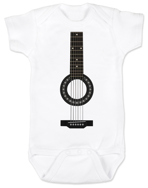 acoustic guitar baby onesie. Black Bedroom Furniture Sets. Home Design Ideas