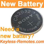 Sony Keyless Remote Lithium Battery CR2032