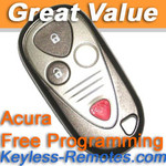 Acura MDX  Keyless Entry Remote Fob Refurbished
